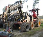 skogsmaskin demonterad
